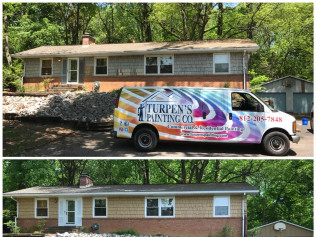 Exterior home painting in Evansville & Newburgh, IN